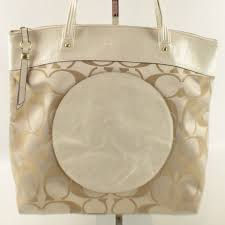 SALE Coach Laura Signature Khaki Cream Large Tote