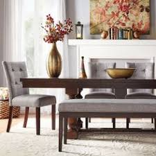 flatiron baer extending dining table by inspire q clic warm dark brown