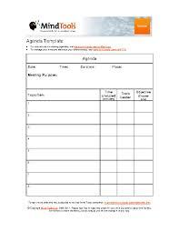 Simple Company Agenda Template Pdfsimpli