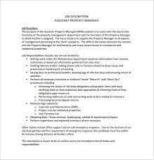 Property Manager Job Description Samples 9 Property Manager Job Description Templates Free Sample