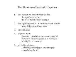 Henderson Hasselbalch Ppt The Henderson Hasselbalch Equation Powerpoint