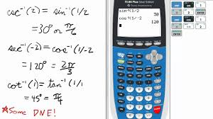 inverse reciprocal trig on ti 84 graphing calculator