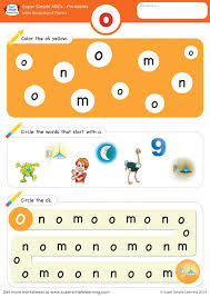 Over 70 fun no prep printables to practice long o! Letter Recognition Phonics Worksheet O Lowercase Super Simple