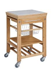 Kitchen Cart With Granite Top Linon Bamboo Kitchen Cart With Granite Top 44031bmb 01 Kd U
