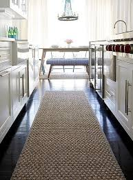 A Sisal Runner Rug Warms Up The Dark Chocolate Hardwood Floors Of This  Modern Kitchen (without Adding Any New Clashing Colors!)