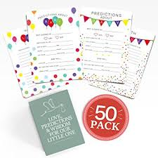 Amazon.com : Baby Shower Advice + Prediction Cards (50 Pack ...