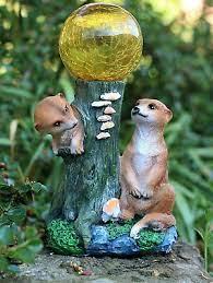 hh home hut meerkat garden ornament