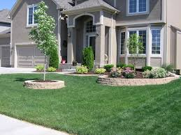 landscaping ideas with landscaping blocks | Landscape Ideas for Front of  House With Grey Walls
