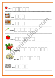 Orton gillingham cvc decodable texts dyslexia intervention (dyslexic font). Food Writing Exercise For Dyslexic Learners Or Students With Learning Disabilities Esl Worksheet By Lancillotta