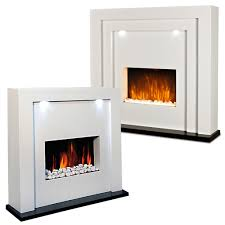 electric fireplace fire freestanding flame effect white surround led living room 5055915035796