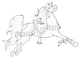 Coloring Pages Horseshoe Detailed Horse For Adults Free Horses