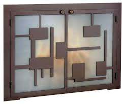 custom glass fireplace doors