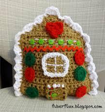Crochet Decoration Patterns Fiber Flux Free Crochet Patterngingerbread House Throw Pillow
