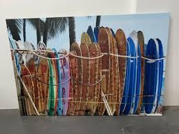 surfboard canvas wall art decorative