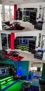 office centre video. LED Lighting In A Sleek Media Entertainment Center - Via User The_One The Digital Spy Office Centre Video