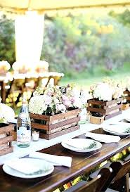 rustic table decor outdoor dinner