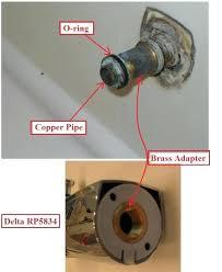 how to fix bathroom tub faucet delta bathtub leaking