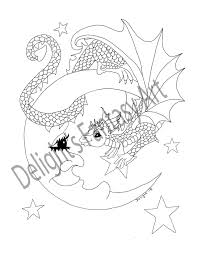 Hallo Daar Volwassene Kleurplaat Dragon Kunst Kleurplaten Etsy