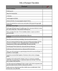 Mla Writing Format Mla Format Checklist Mla Format Seawons Esl Portfolio