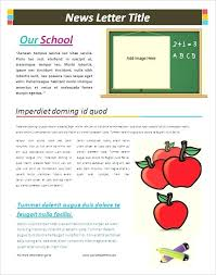 School Newspaper Template Publisher Publisher Newspaper Templates Free Newsletter Template Word Within