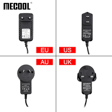 Power Supply Adapter Replacement 5V/2A 12V/1A For Mecool KM2 KM6 KD1 Android  TV Box Stick EU US Plug|Remote Controls