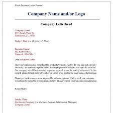 New Business Letter Format Proper Spacing Sample Naveshop Co