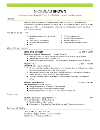 Resume Examples Professional Simple Web Developer Resume Example Emphasis 48 Expanded Professional