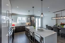 Contemporary Two Tone Kitchen Design Kitchen Land Custom Kitchen