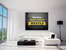 wall art office. Hustle Beats Talent Framed Canvas Wall Art Office Motivational - Royal Crown Pro 1