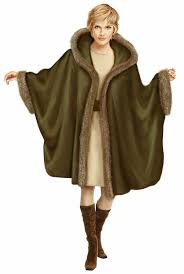 Poncho Sewing Pattern Unique Poncho With Fur Trim Sewing Pattern 48 Madetomeasure Sewing