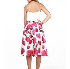 Edelnice Trachtenmoden Size Chart Bigood Womenss Summer Printed Skater Skirt Ladies Elegant
