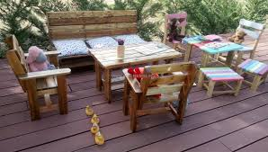 patio furniture from pallets. Repurposed Pallets Kids Furniture Patio From