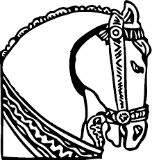Small Picture Horse Head Coloring Pages Coloring Home