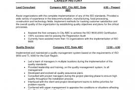 quality assurance resumes resume rating system - Resume For Quality Control