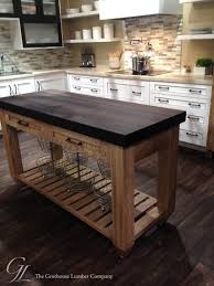 wenge wood countertop featured in elkay display booth at kbis 2016 kitchen islands and kitchen carts philadelphia by grothouse wood countertops