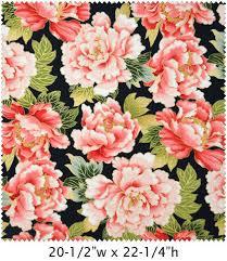 Cotton Quilt Fabric Asian Tadashi Large Fabric Floral Pink Black ... & Cotton Quilt Fabric Asian Tadashi Large Fabric Floral Pink Black - product  images of Adamdwight.com