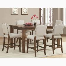 7 pc dining room sets unique plain design high dining table set sweet looking counter height