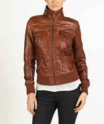 fabiola women smart er leather jacket by helium