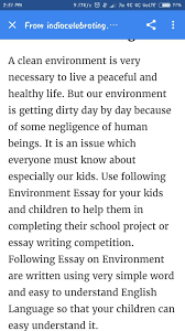 Of 250 Words Essay On Essay On Clean Environment 250 Words Brainly In