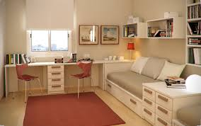 Twin Kids Study Room With Comfortable Sofa And Cheerful Orange Rug Tips to  choose Study room