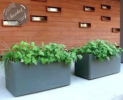 rectangular outdoor planters modern outdoor planters rectangular planters uk