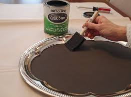 Decorating With Silver Trays Paint a vintage silver tray from the dollar store with chalkboard 71