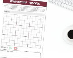 Tracker Training Printable Dog Training Planner Relationship Tracker Downloadable Training Tracker Worksheet For Dog Trainers