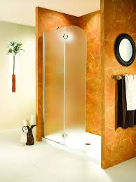 obscure glass shower shield that converted a bathtub into a shower