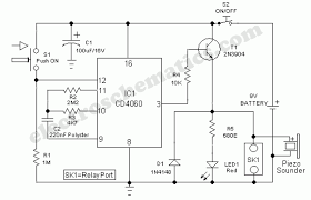 door timer circuit alarm