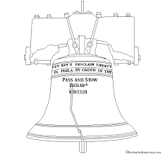 Small Picture Liberty Bell Coloring Printout EnchantedLearningcom