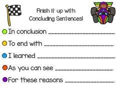 Opinion Writing   Anchor charts  Rubrics and Opinion writing YouTube Ideas for Conclusion Paragraphs