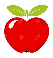 Red Apple Icon With Leaves. Vector Illustration Royalty Free ...