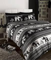 appealing elephant comforter set full boho bedding mandala bed bohemian duvet cover golden flower black bedclothes