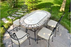 160 180 240 cm oval outdoor garden stone mosaic marble dining table ovali